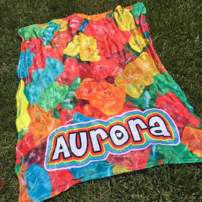 Personalized Camp Blanket - 20+ Colors/Patterns