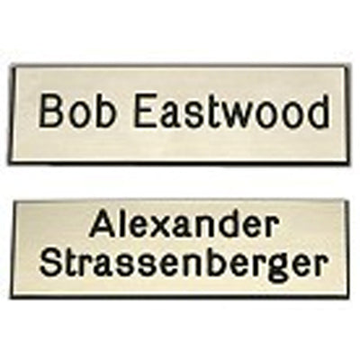Camp Trunk Engraved Name Plate