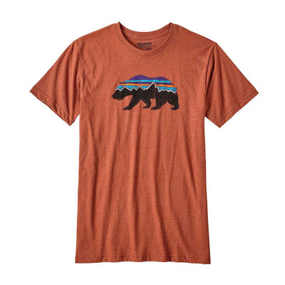 Patagonia Men's Fitz Roy Bear Cotton/Poly Tee