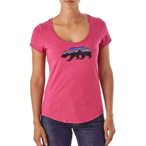 Patagonia Women's Fitz Roy Bear Cotton/Poly Scoop T-Shirt