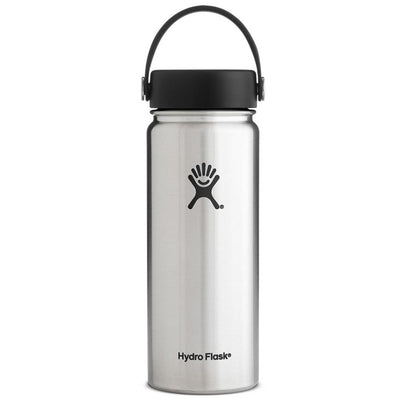 Hydro Flask 18 oz Wide Mouth Water Bottle w/ Flex Cap - Stainless Steel