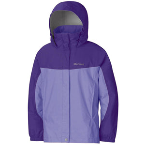 Marmot Girls' PreCip Jacket - Pale Dusk Gemstone