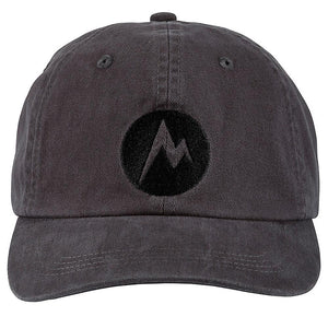 Marmot MDot Twill Cap - Dark Charcoal/Black