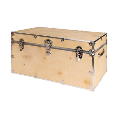 "Rhino Natural Wood Large Camp Trunk - 32""L x 18""W x 14""H"