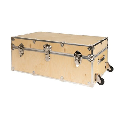 "Rhino Natural Wood X-Large Camp Trunk - 34""L x 20""W x 15""H"