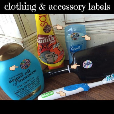 Peel & Stick Clothing & Accessory Labels - 150 Labels
