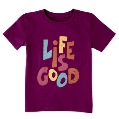 Life is Good Toddler Life is Good Tee - Deep Plum