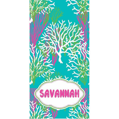Personalized Ultra-Plush Camp Beach Towel - 20+ Colors & Patterns!