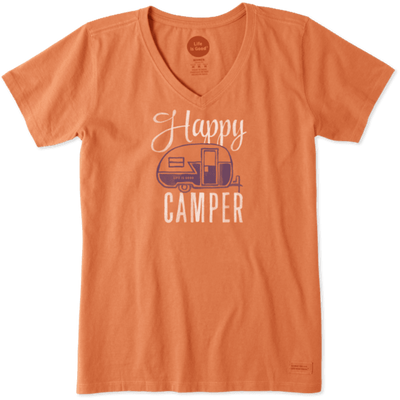 Life is Good Women's Crusher Tee - Happy Camper