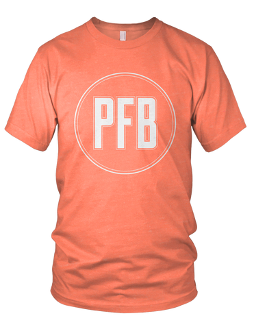 Minimalist PFB Logo Shirt (Light Orange)