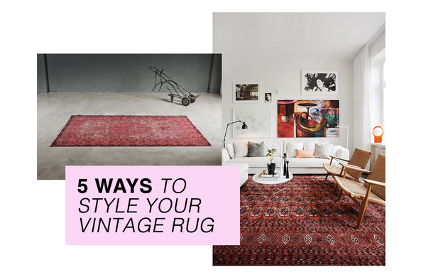 5 Ways To Style Your Vintage Rug