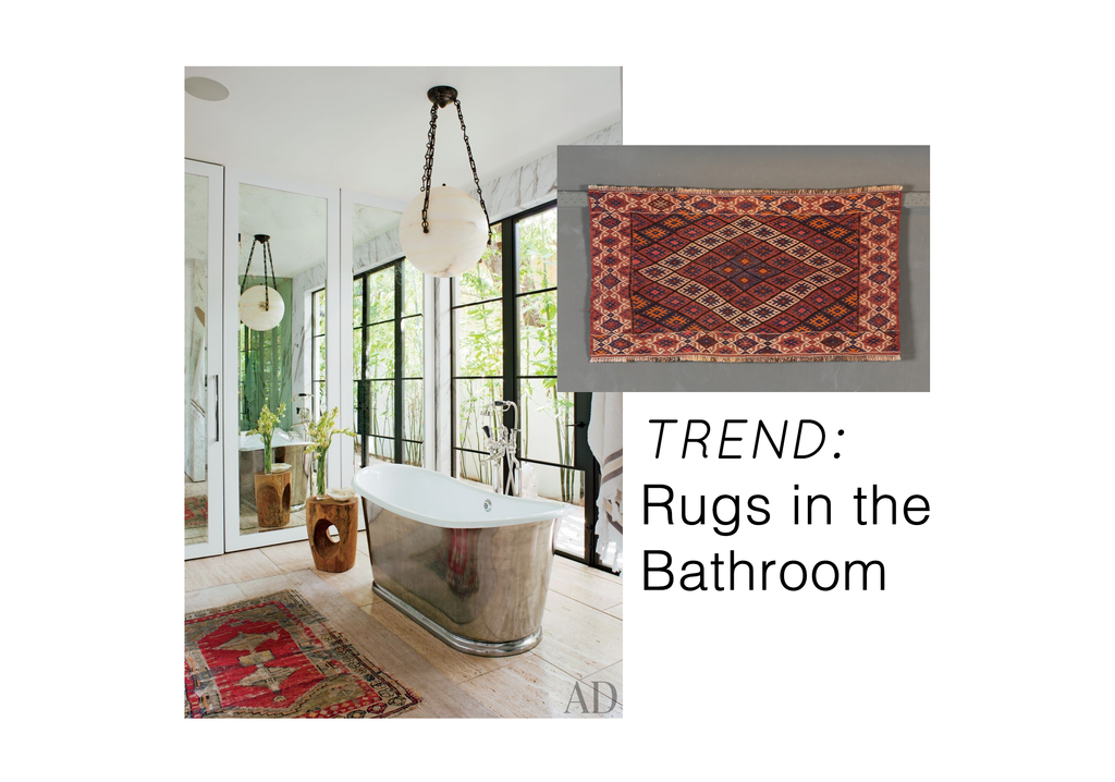 TREND: Rugs in the Bathroom