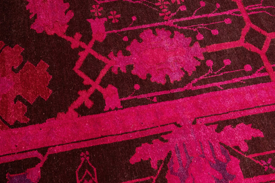 Vintage Teppich rot pink Detail