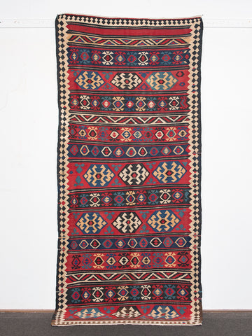 Antique Kilim Rug <br>'High Low'