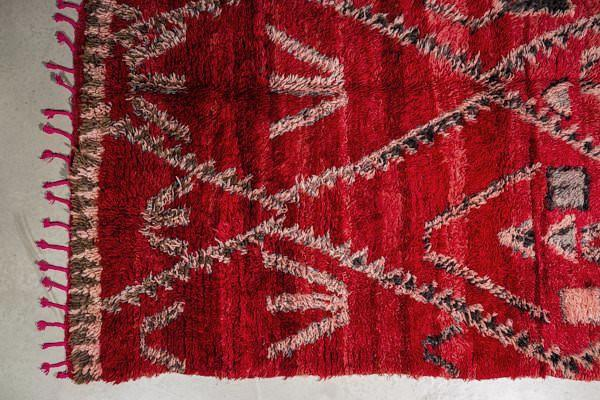 THE KNOTS - Berber Teppich - handgemacht - Carpet - Rug - handmade - Moroccan - tribal - diamond - pattern - muster - vintage