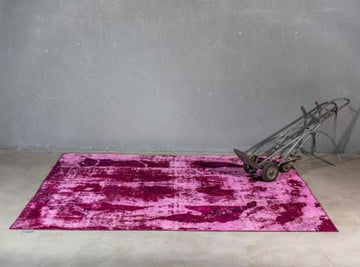 THE KNOTS - Vintage Teppich - handgemacht - Carpet - Rug - handmade - Persian - pattern - muster - wool - wolle - overdyed - pink