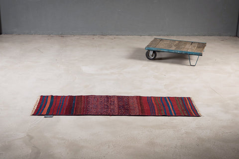 THE KNOTS - Vintage Persian Kilim Teppich - handgemacht - Carpet - Rug - handmade - pattern - muster - wool - wolle - red - burgundy - blue - striped