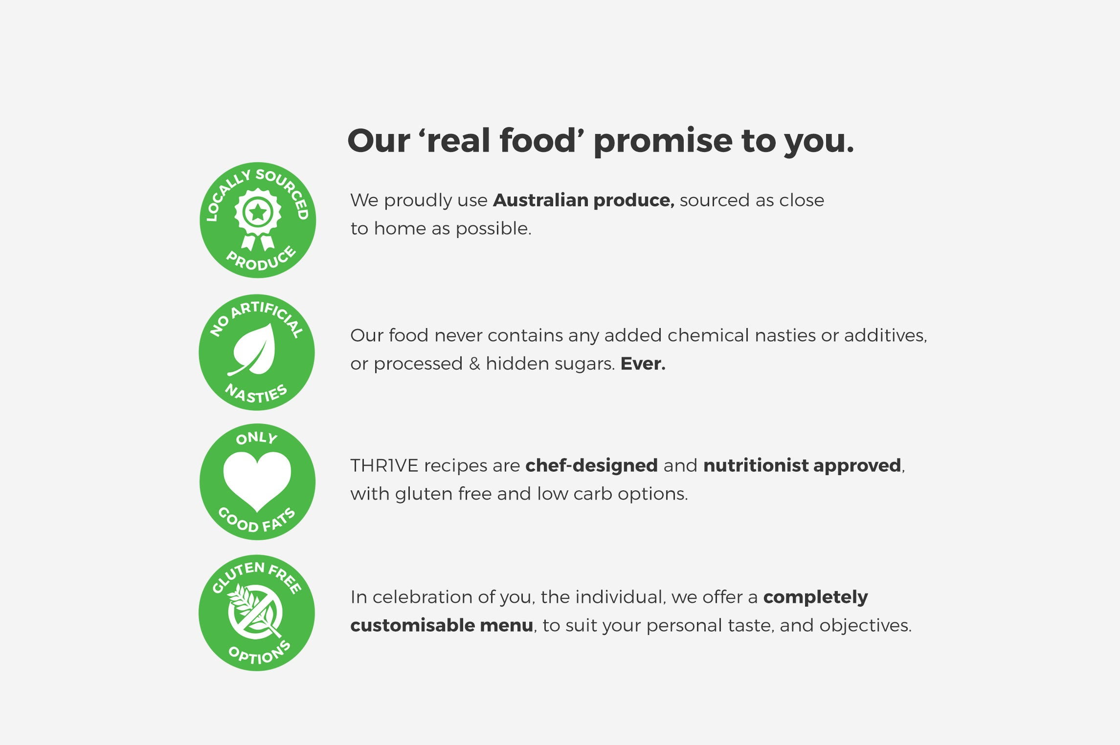 Our Real Food Promise
