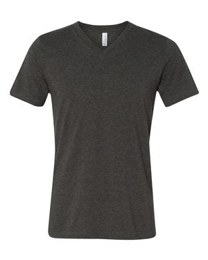 Reign Spangled V- Neck Dark Gray Heather Tee