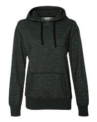 Horning Sparkle Spangle Hooded Black Sweatshirt