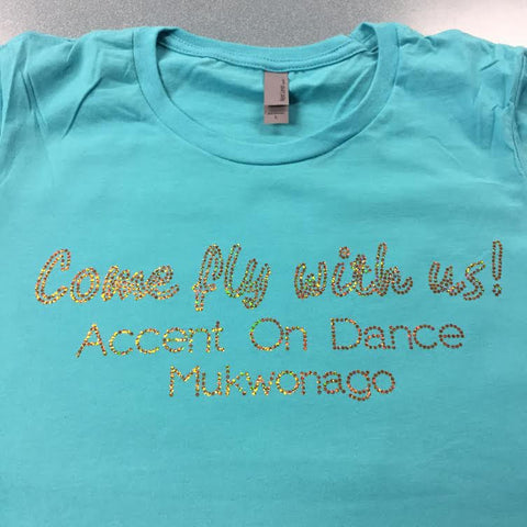 AOD Mukwonago 2017 Come Fly With Us! Spangle Recital Tee