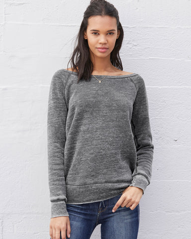 WAYHA Spangled Fleece Wide Neck Sweatshirt