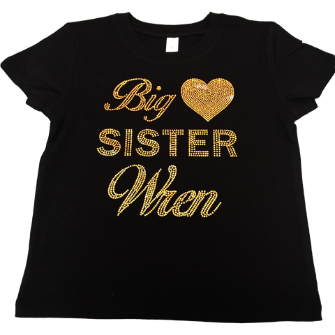 Big Sister Sparkly Spangled Toddler Tee