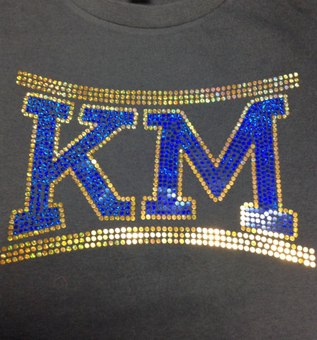 Blue and Gold Spangle KM-Blue or Black Hoodie