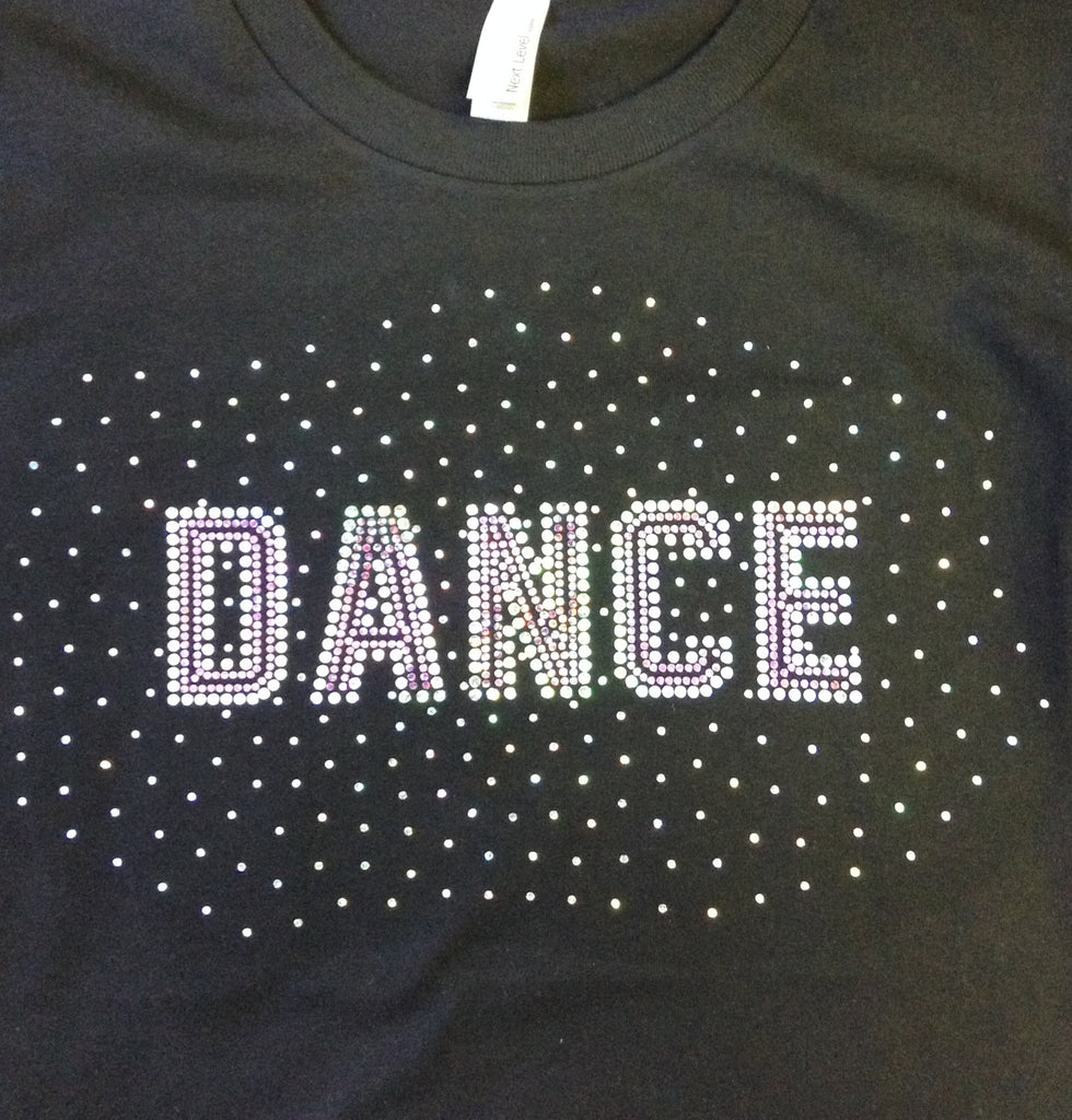 Dance with Fade Black Crew T-Shirt