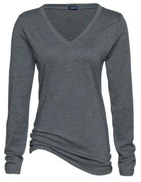Reign Spangle Ladies Long Sleeve V-neck Tee
