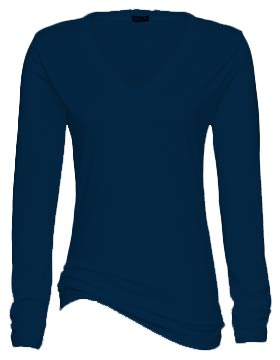 Hitters Ladies Long Sleeve V-Neck Tee