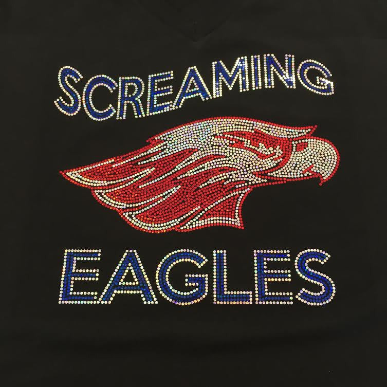 Screaming Eagles Black Flowy Racerback Tank