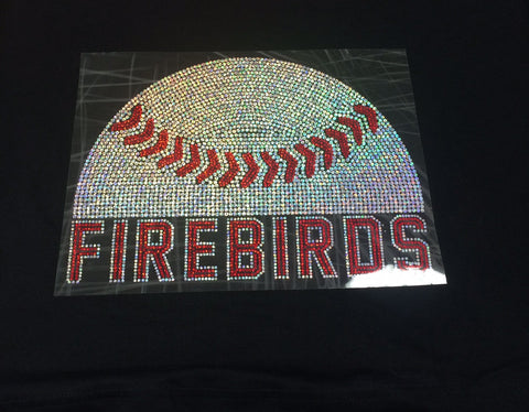 "Waukesha Firebirds  ""Ball"" Crew Neck Tee"