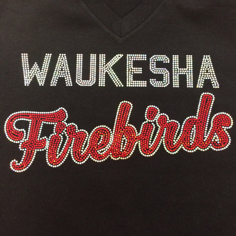 "Waukesha Firebirds ""Words"" Crew Neck Tee"