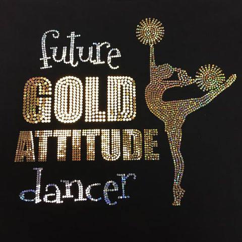 Future Gold Attitude Dancer Crew Neck Tee