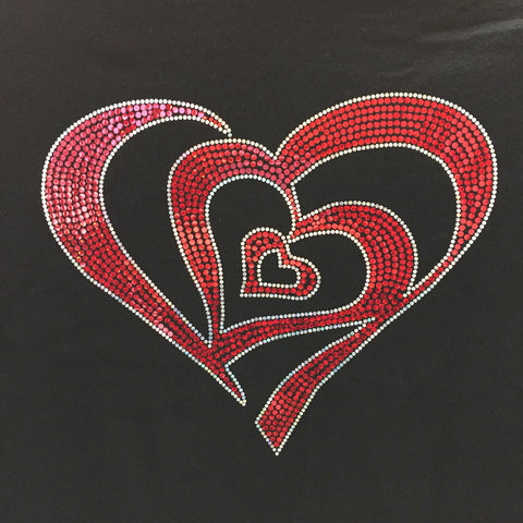 Three Hearts Valentine's Spangle Tee