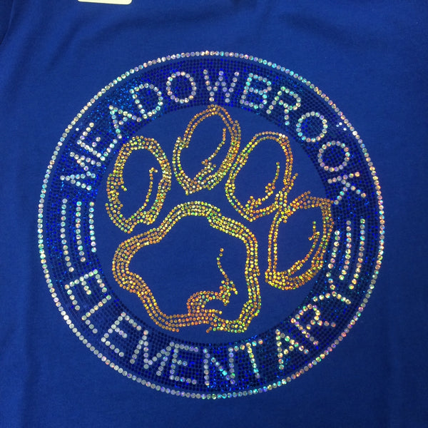 Meadowbrook Sparkle Short Sleeve YOUTH Crew Neck Tee