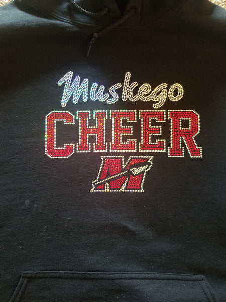 MYF Cheer Woman's V Neck (Custom Back)