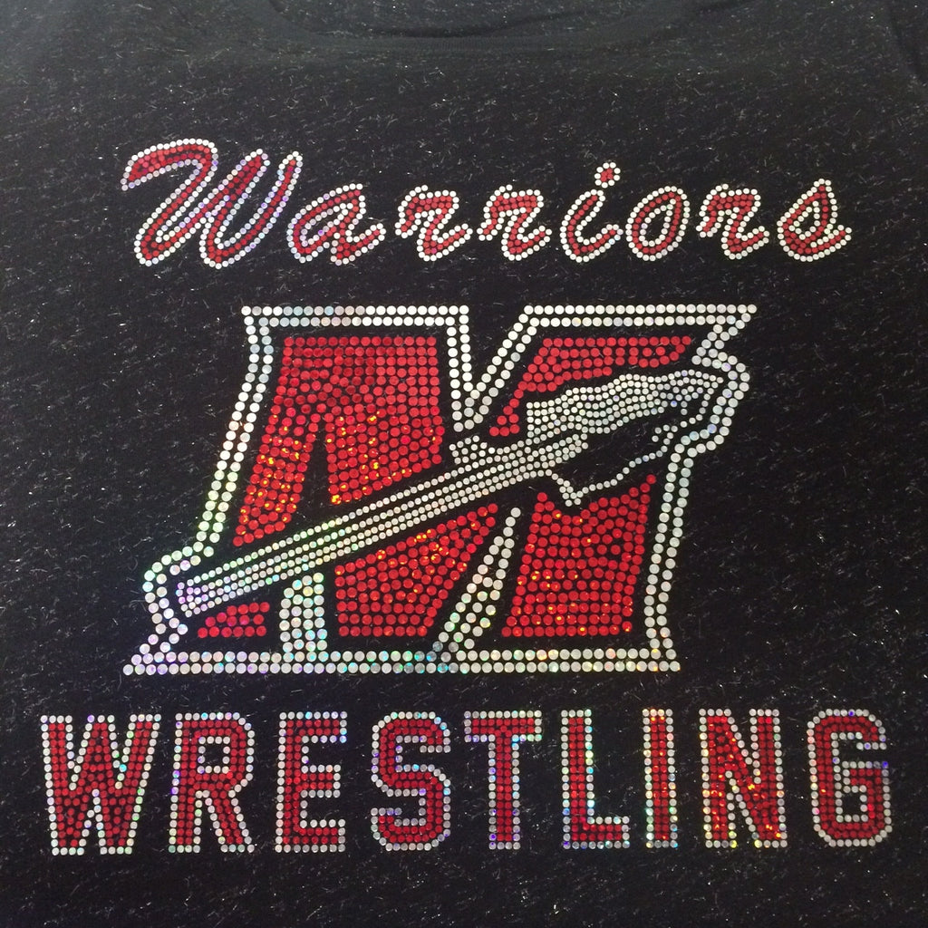 Muskego Wrestling Burnout Spangled Fitted Tee