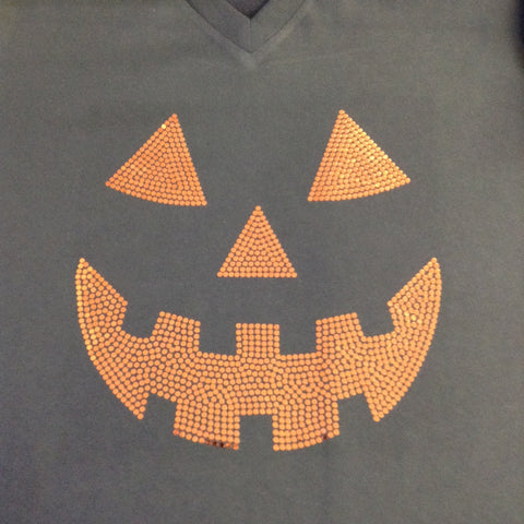 Jack O Lantern Black V-neck T-shirt