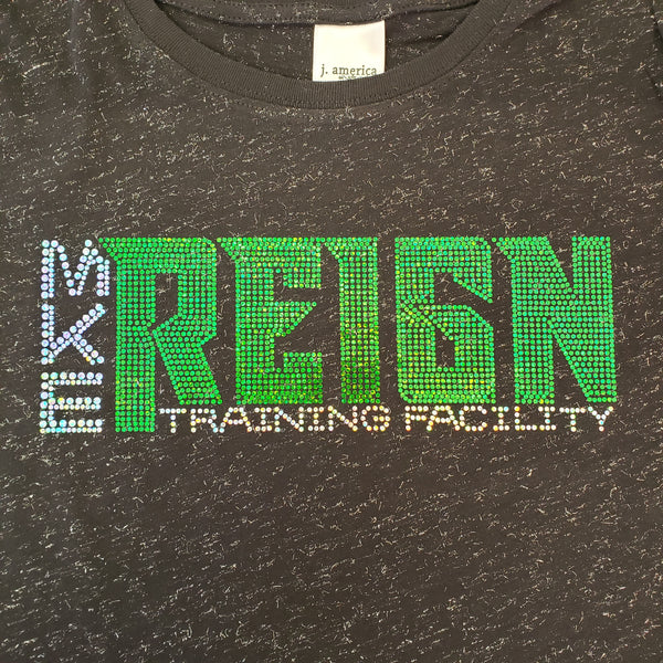 Reign Spangled Black Tri-blend Shirt