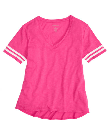 Hitters Spangled Sporty Slub Tee (Red or Pink)