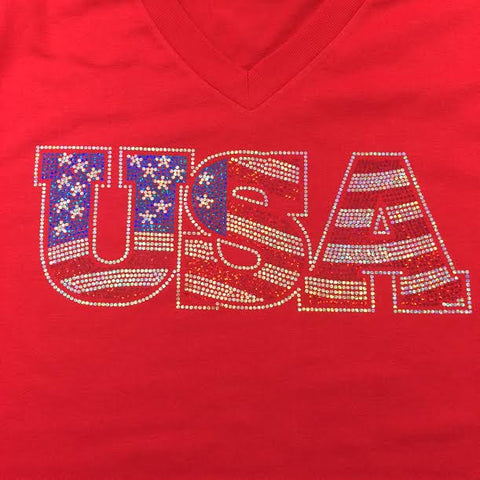 Flag USA - Fourth of July T-shirt