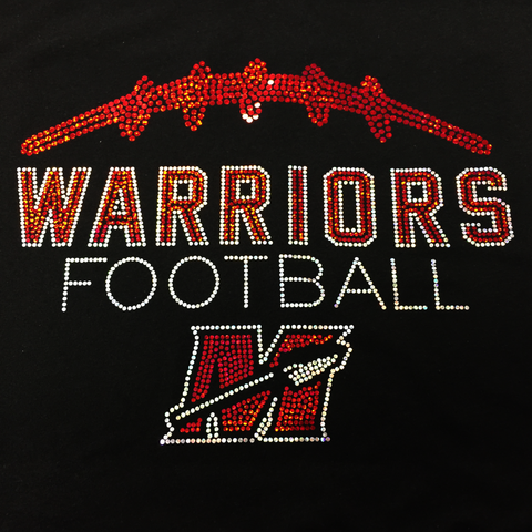 Muskego Warriors Football Spangle Tees