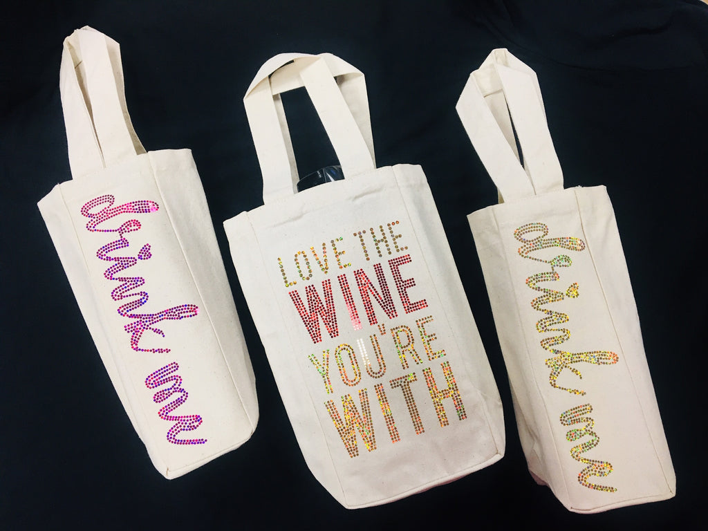 Spangled Wine Totes