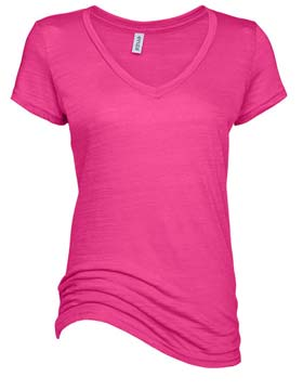 Pink Woman's V Neck