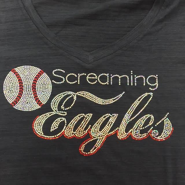 Screaming Eagles Curvy Navy Tee