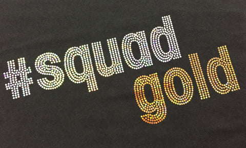 Gold Attitude Jersey Style Tees - #SQUAD GOLD