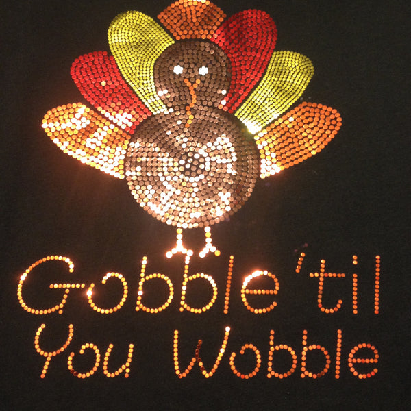 Thanksgiving Turkey Black Crew Neck T-shirt