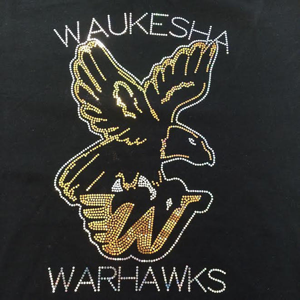 Waukesha Warhawks YOUTH Sparkle Spangle Hoodie